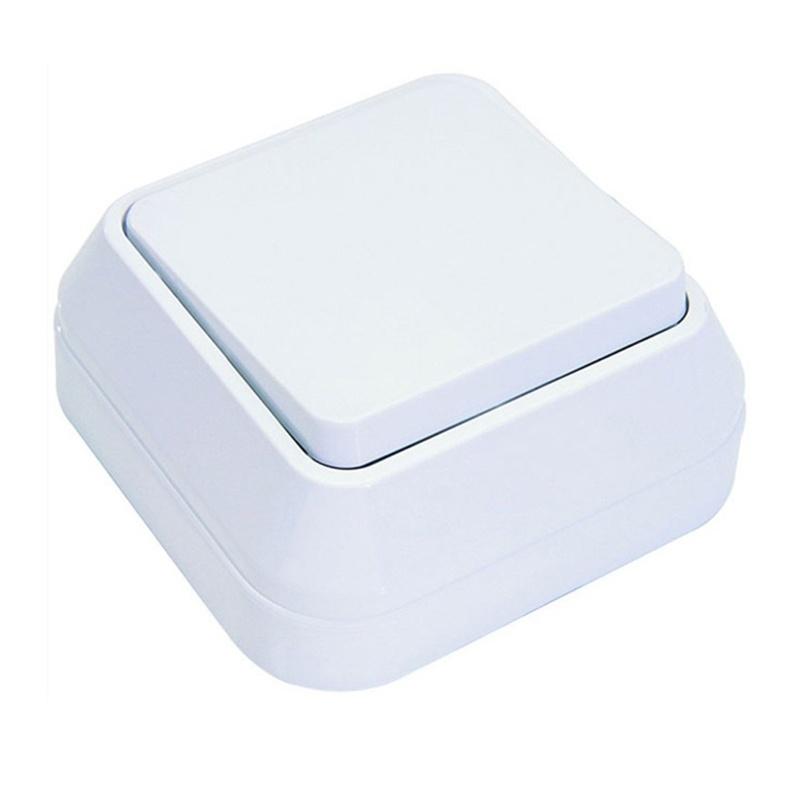 МАКЕЛ Выключатель о/у, 1 клавиша, б/индикации, 10А, 230В,  IP20, белый. 45101