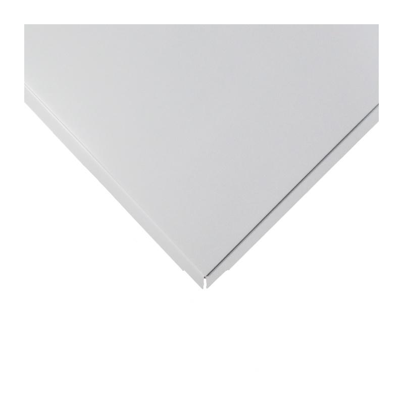 ЦЕСАЛ Плита потолочная кассетная 600х600мм алюминиевая белая кромка Тегулар 90 (40шт)