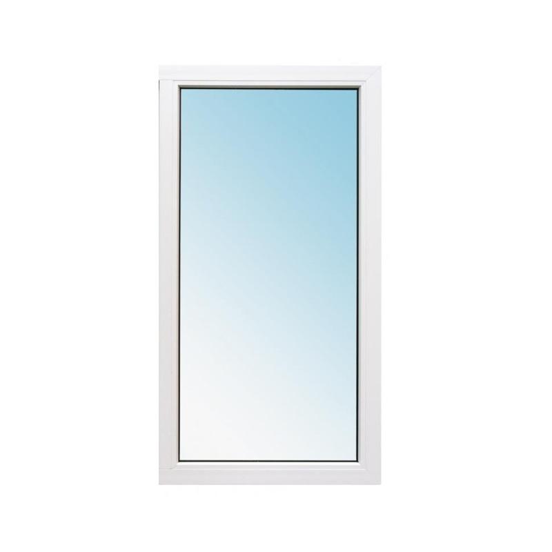 Окно металлопластик., 900х600мм, белое, 1-камерный стеклопакет 24мм, глухое