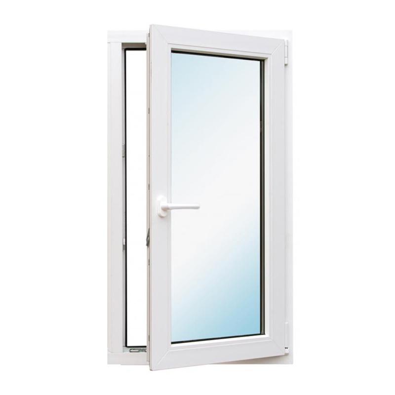 Окно металлопластик., 900х600мм, белое, 1-камерный стеклопакет 24мм, поворотное, правое