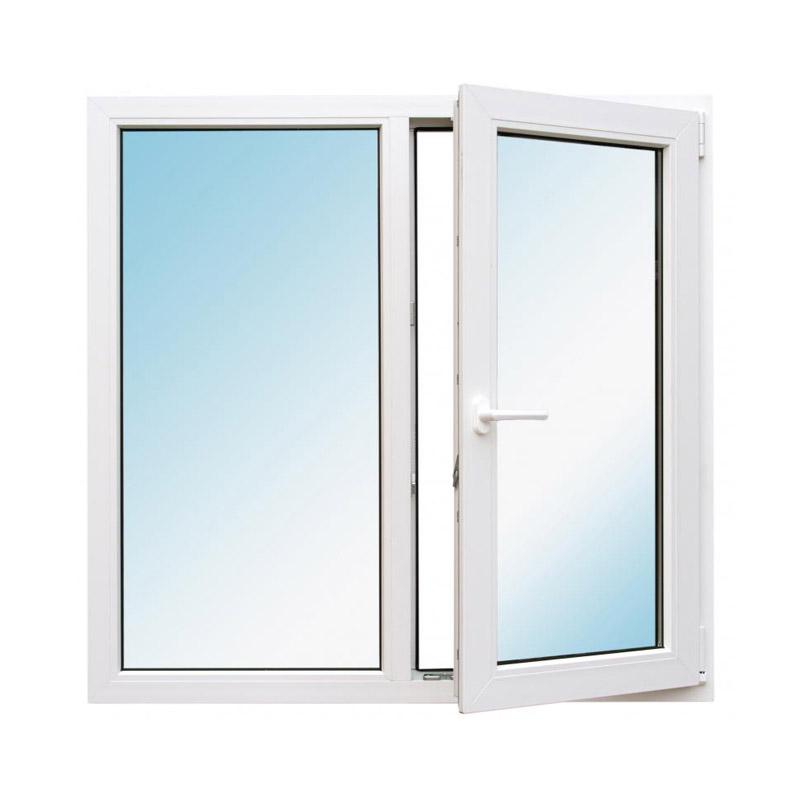 Окно металлопластик., 1200х1200мм, белое, 1-камерный стеклопакет 24мм, поворотно-откидное, правое