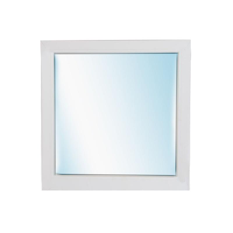 Окно металлопластик., 600х500мм, белое, 1-камерный стеклопакет 24мм, глухое