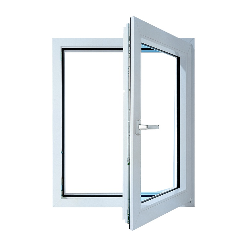 Окно металлопластик., 570х500мм, белое, 1-камерный стеклопакет 24мм, поворотно-откидное, правое