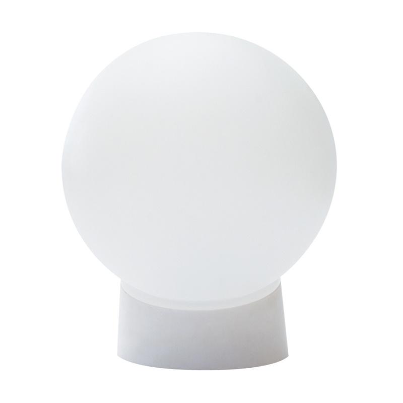 Светильник НББ E27, 60Вт, 230В, IP20, прямое основание, шар белый пластик