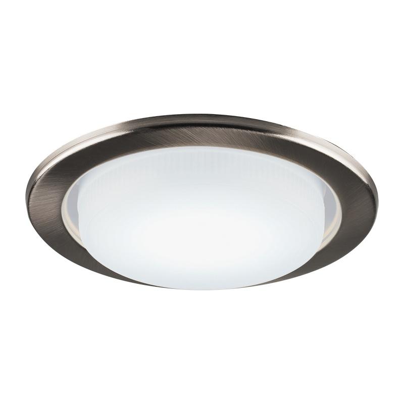 Светильник встраиваемый круглый под GX53, 15Вт, 230B, IP20, титан
