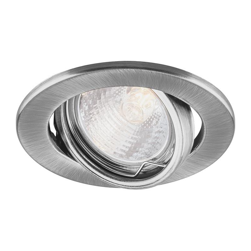 Светильник встраиваемый поворотный под MR16 круглый G5.3 50Вт, 12/230В, IP20, титан